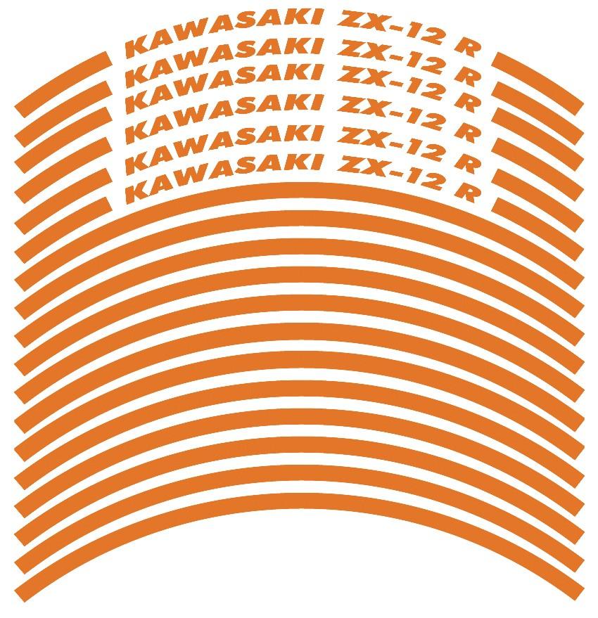 Felgenrandaufkleber Kawasaki ZX-12 R Orange