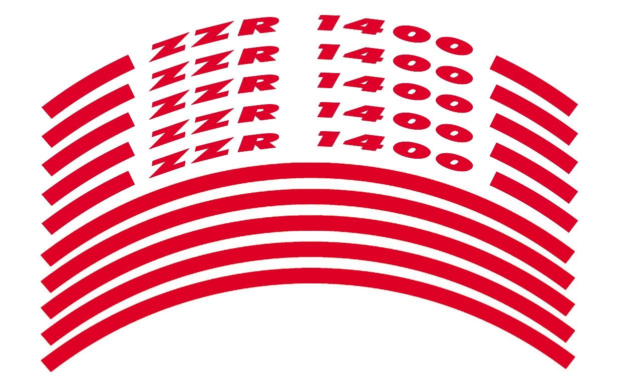 Felgenrandaufkleber ZZR 1400 Rot