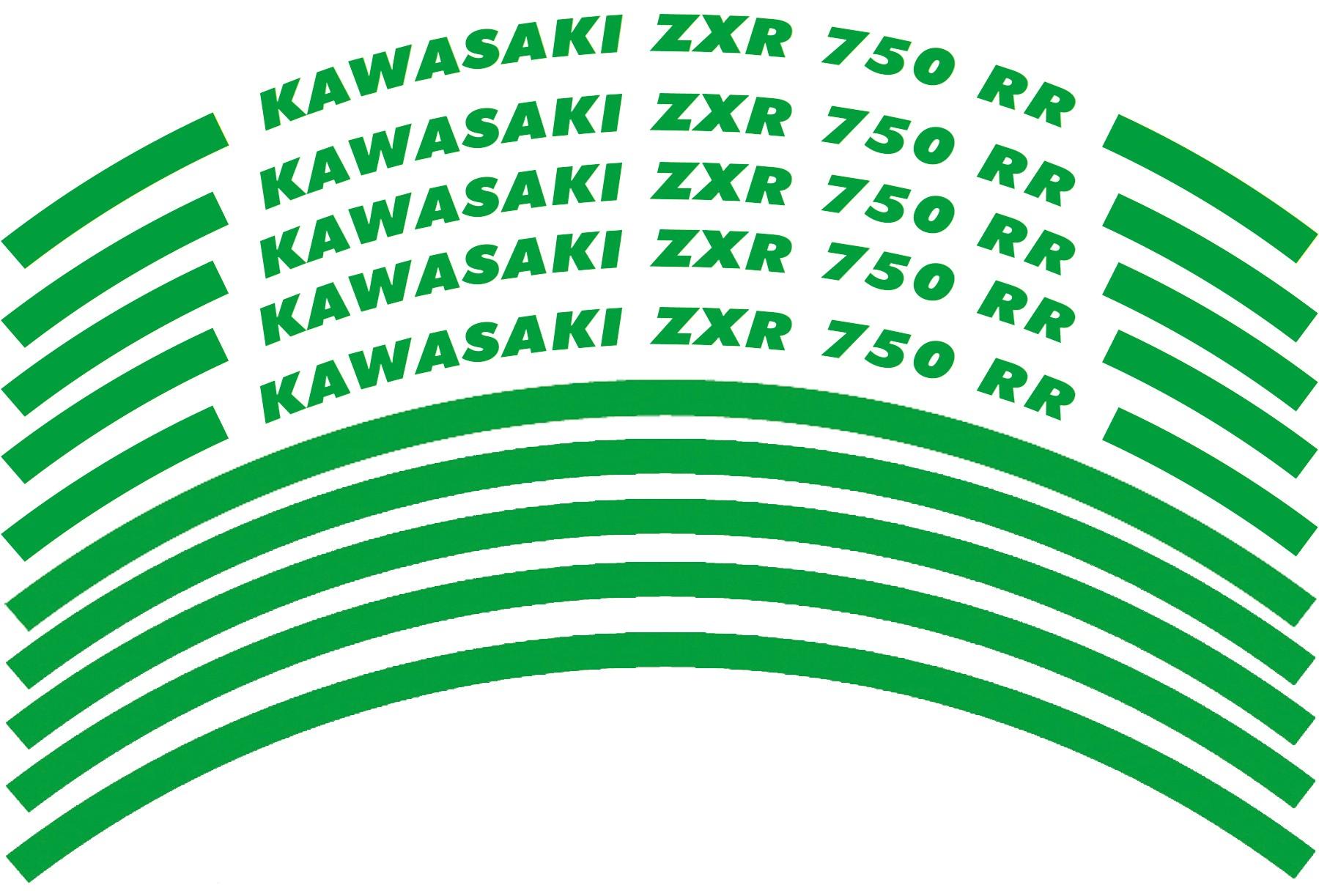 Felgenrandaufkleber Kawasaki ZXR 750 RR Grün