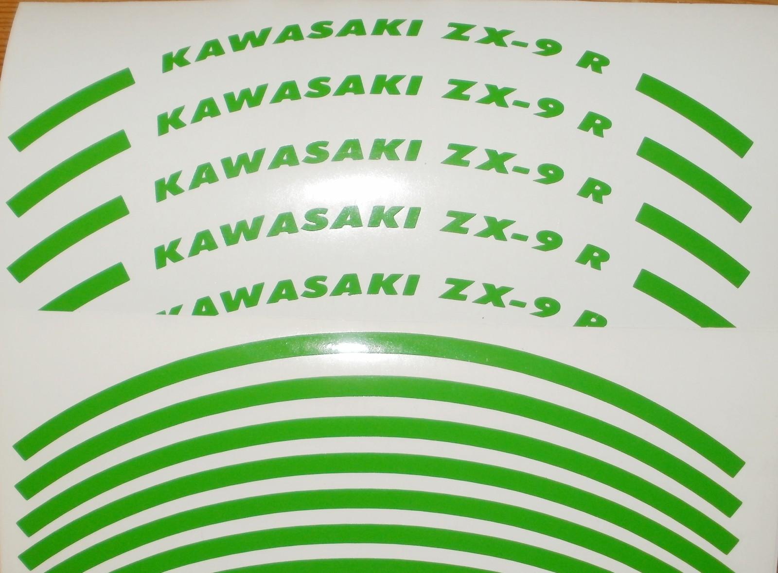 Felgenrandaufkleber Kawasaki ZX-9 R Grün