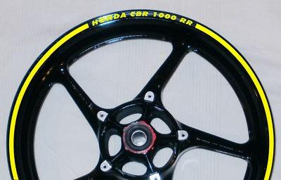 Felgenrandaufkleber HONDA CBR 1000 RR gelb