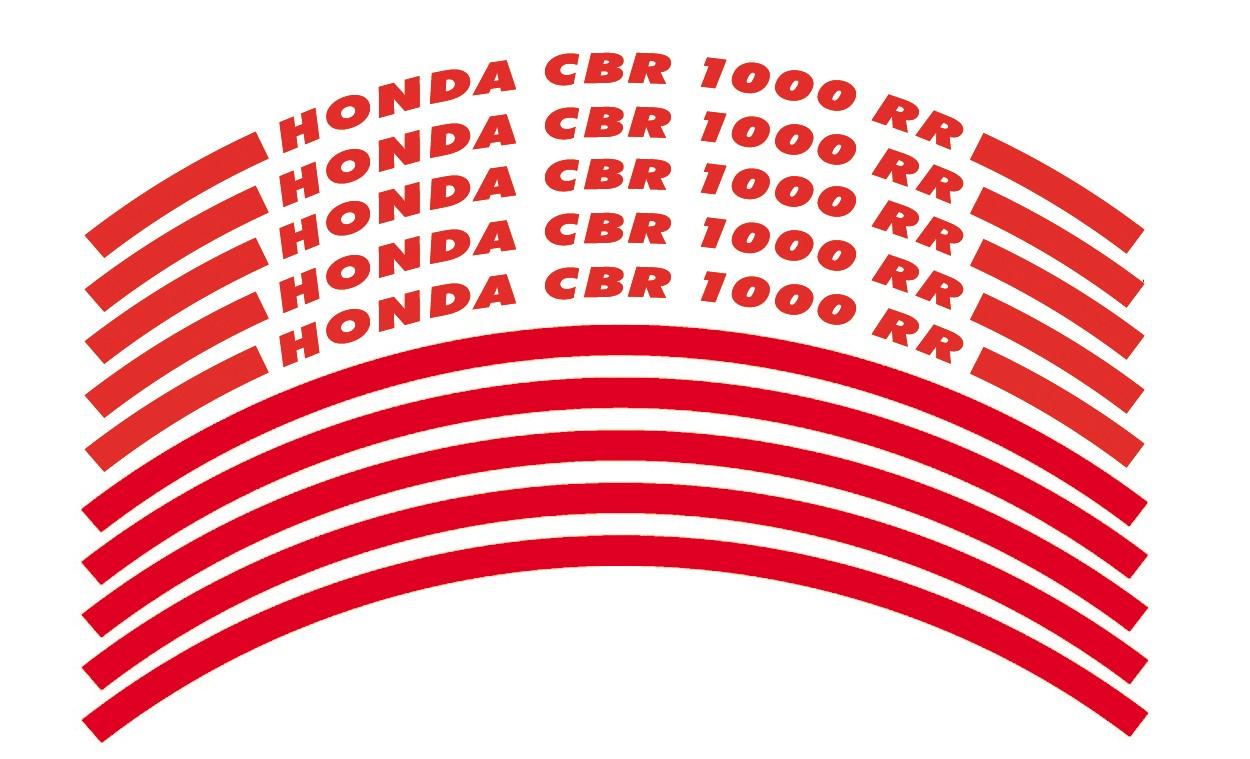 Felgenrandaufkleber HONDA CBR 1000 RR rot
