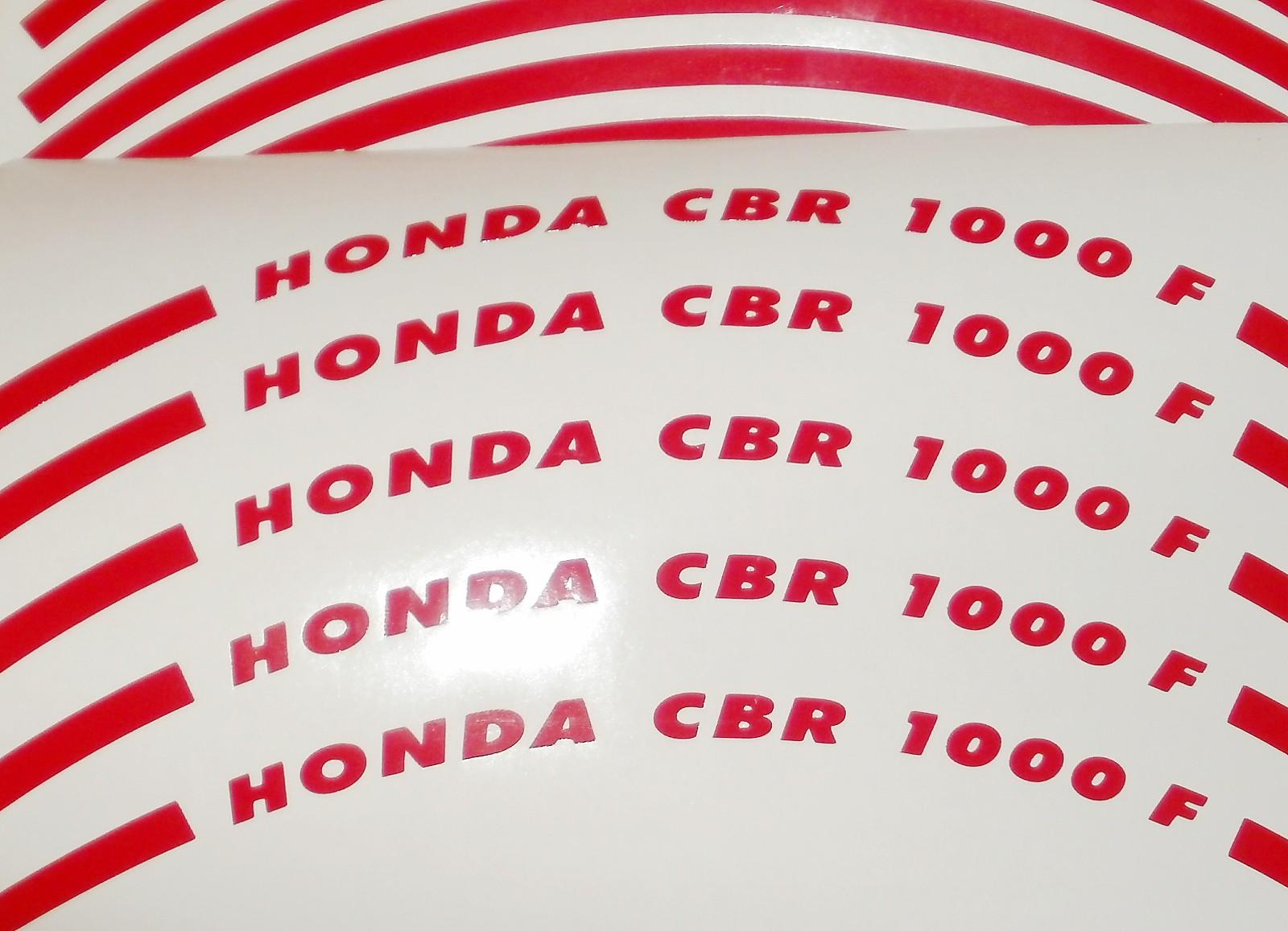 Felgenrandaufkleber HONDA CBR 1000 F rot