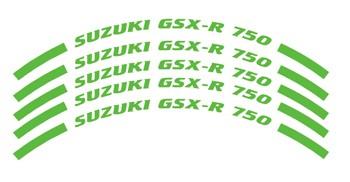 Felgenrandaufkleber Suzuki GSX-R 750 grün
