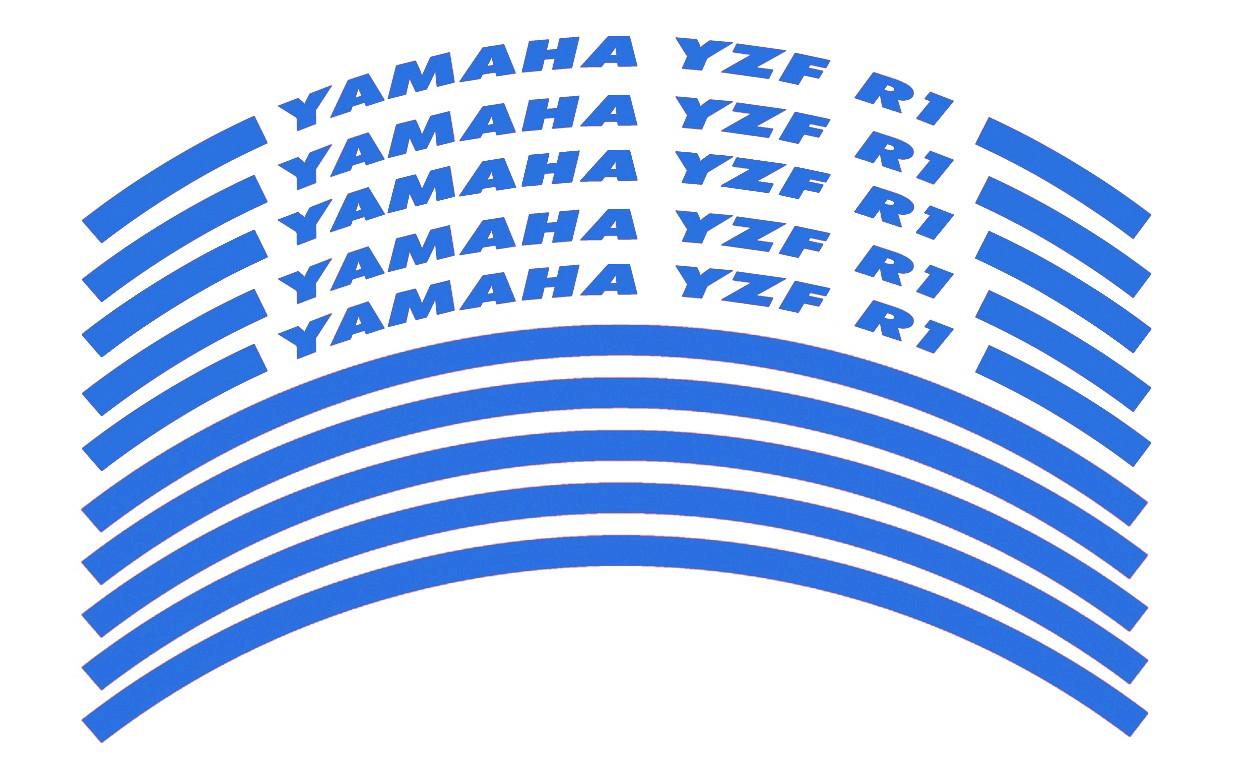 Felgenrandaufkleber Yamaha YZF R1 blau