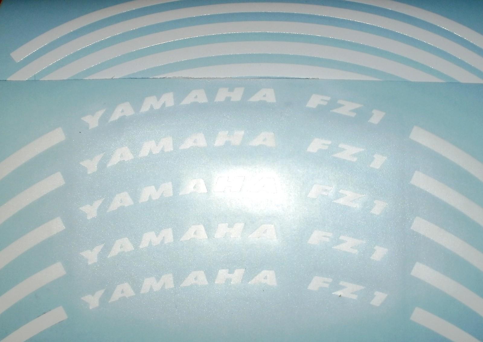 Felgenrandaufkleber Yamaha FZ1 weiß