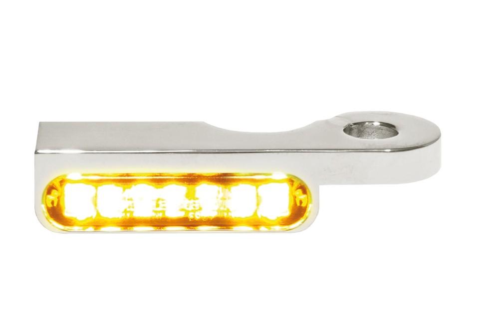 LED Armaturen Blinker DYNA Modelle 96-, silber
