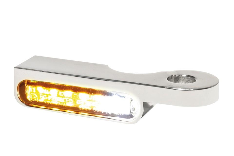 LED Armaturen Blinker-Positionslicht-Kombination SOFTAIL Modelle -14, silber