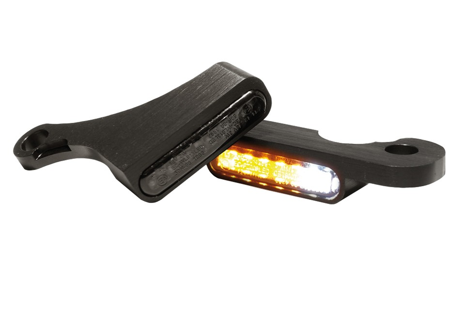 LED Armaturen Blinker-Positionslicht-Kombination SOFTAIL Modelle 15-, schwarz