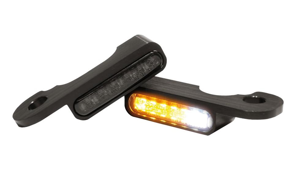LED Armaturen Blinker-Positionslicht-Kombination TOURING Modelle hydr.Kupplung, schwarz