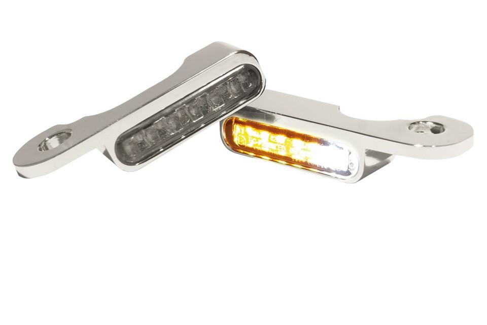 LED Armaturen Blinker-Positionslicht-Kombination TOURING Modelle hydr.Kupplung, silber