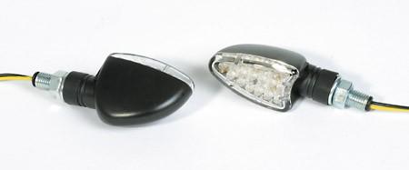 SHIN YO LED-Mini-Blinker ARROW, E-gepr., schwarz, kurzer Stiel