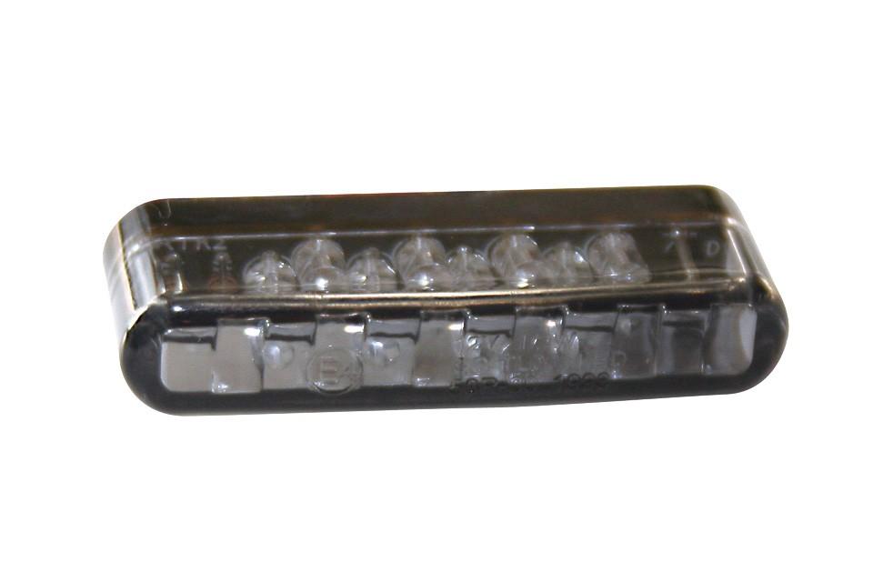 SHIN YO LED-Einbaublinker SHORTY, getöntes Glas, E-gepr.