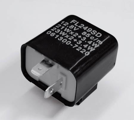 Blinkrelais 2Pol 12V 21W schwarz