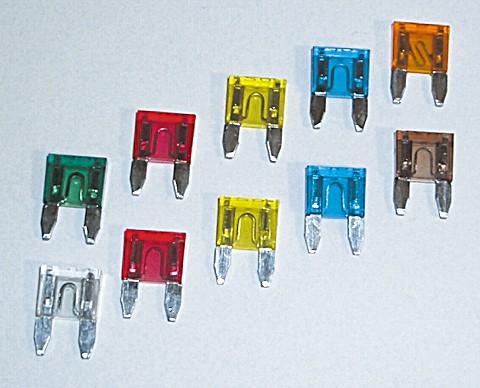 Mini-Stecksicherung , 3 A, 10er Pack