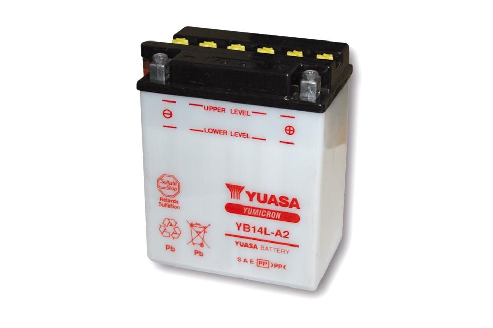 YUASA Batterie YB 14L-A2 ohne Säurepack