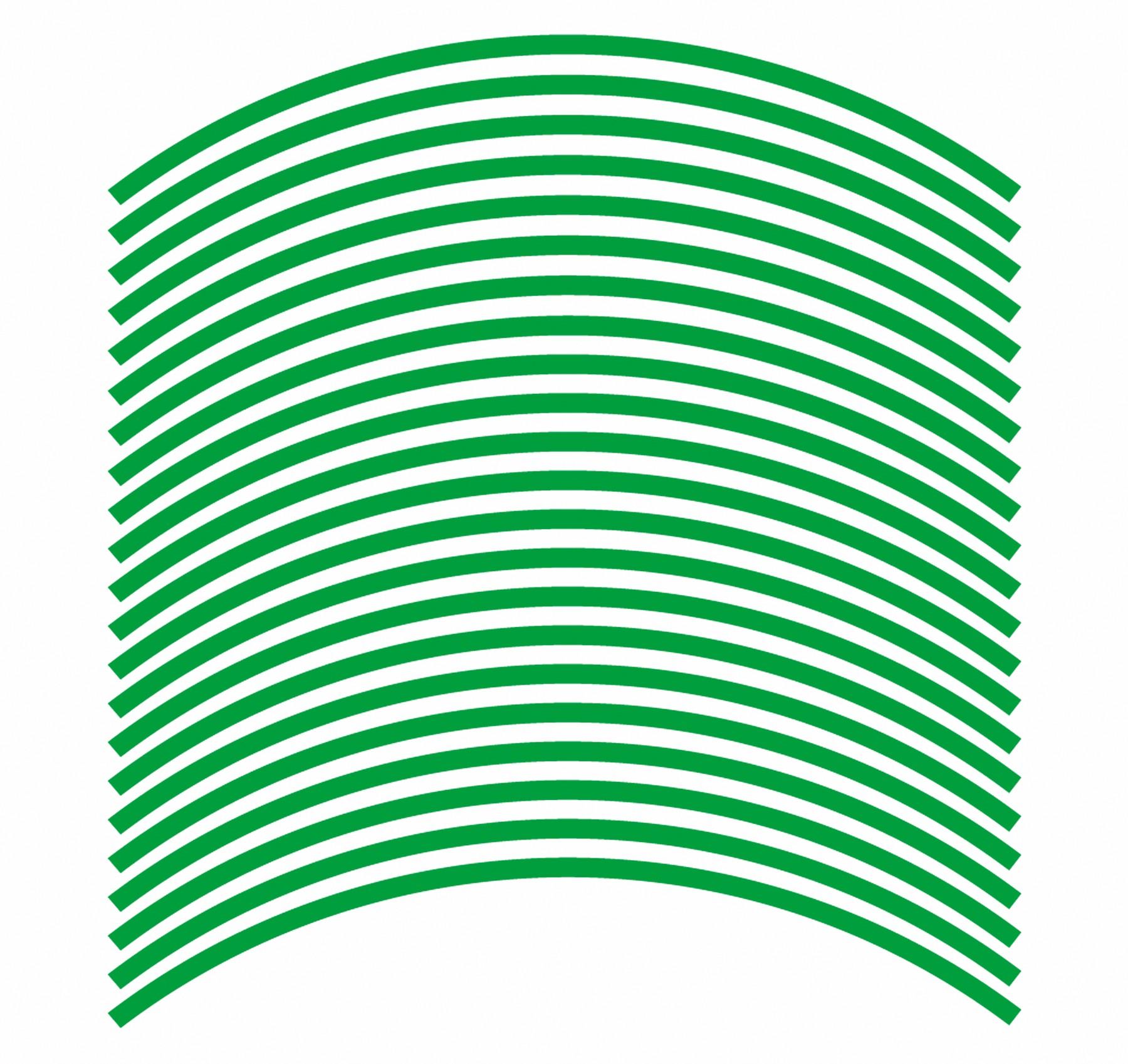 Felgenrandaufkleber 6 mm grün 17 Zoll