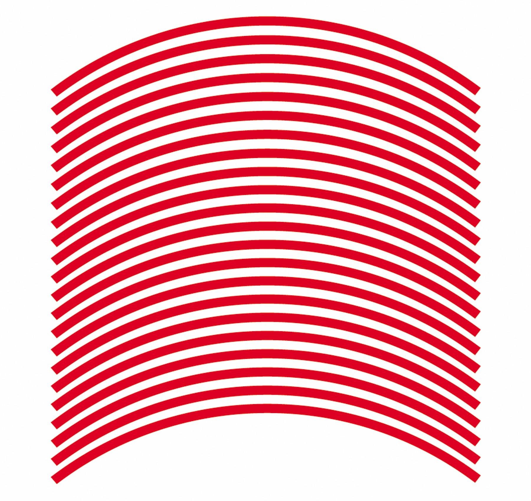 Felgenrandaufkleber 6 mm rot 17 Zoll