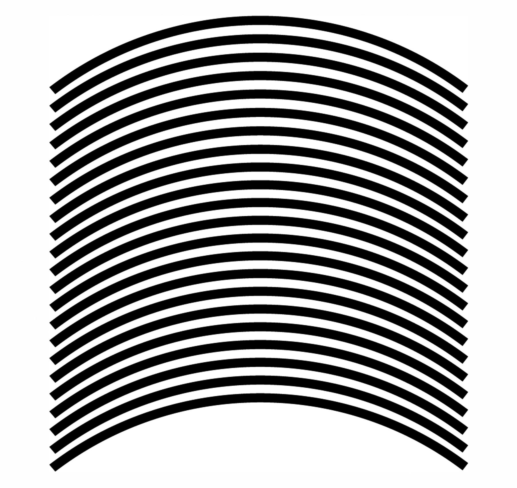 Felgenrandaufkleber 6 mm schwarz 17 Zoll