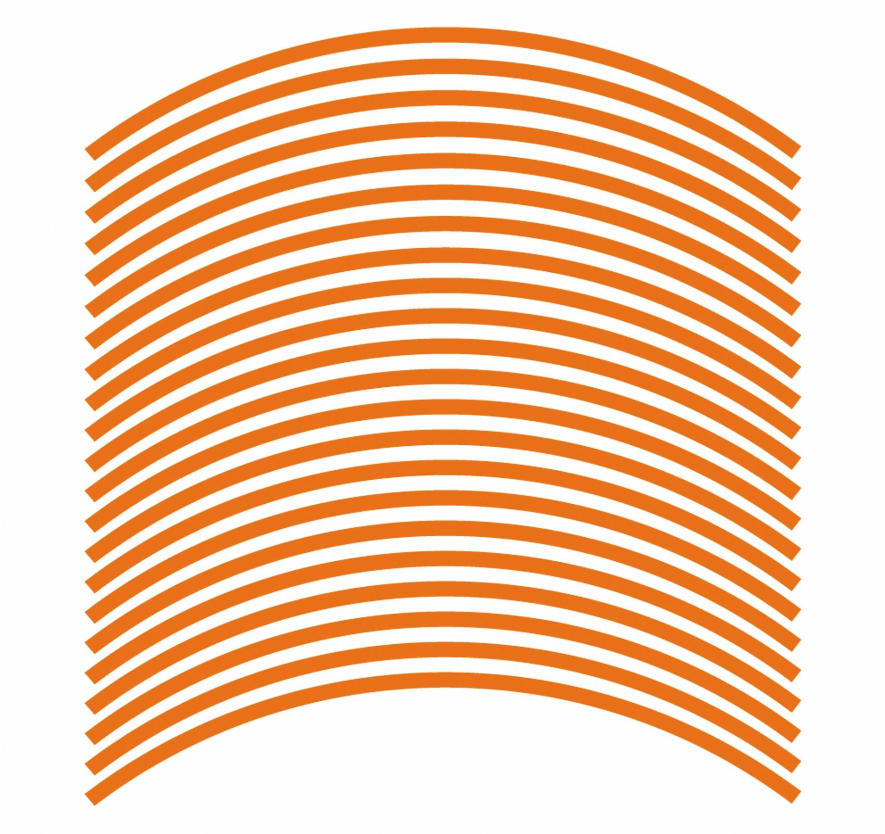 Felgenrandaufkleber 6 mm orange 17 Zoll