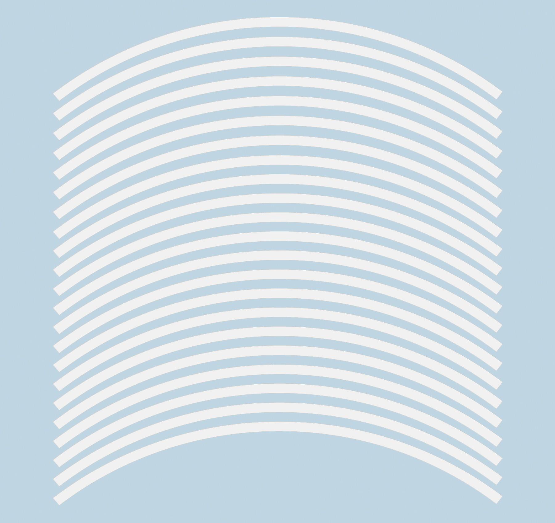Felgenrandaufkleber 6 mm weiß 17 Zoll