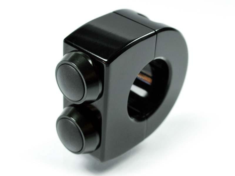 motogadget m-Switch  2 Taster Armatur 22mm, schwarz