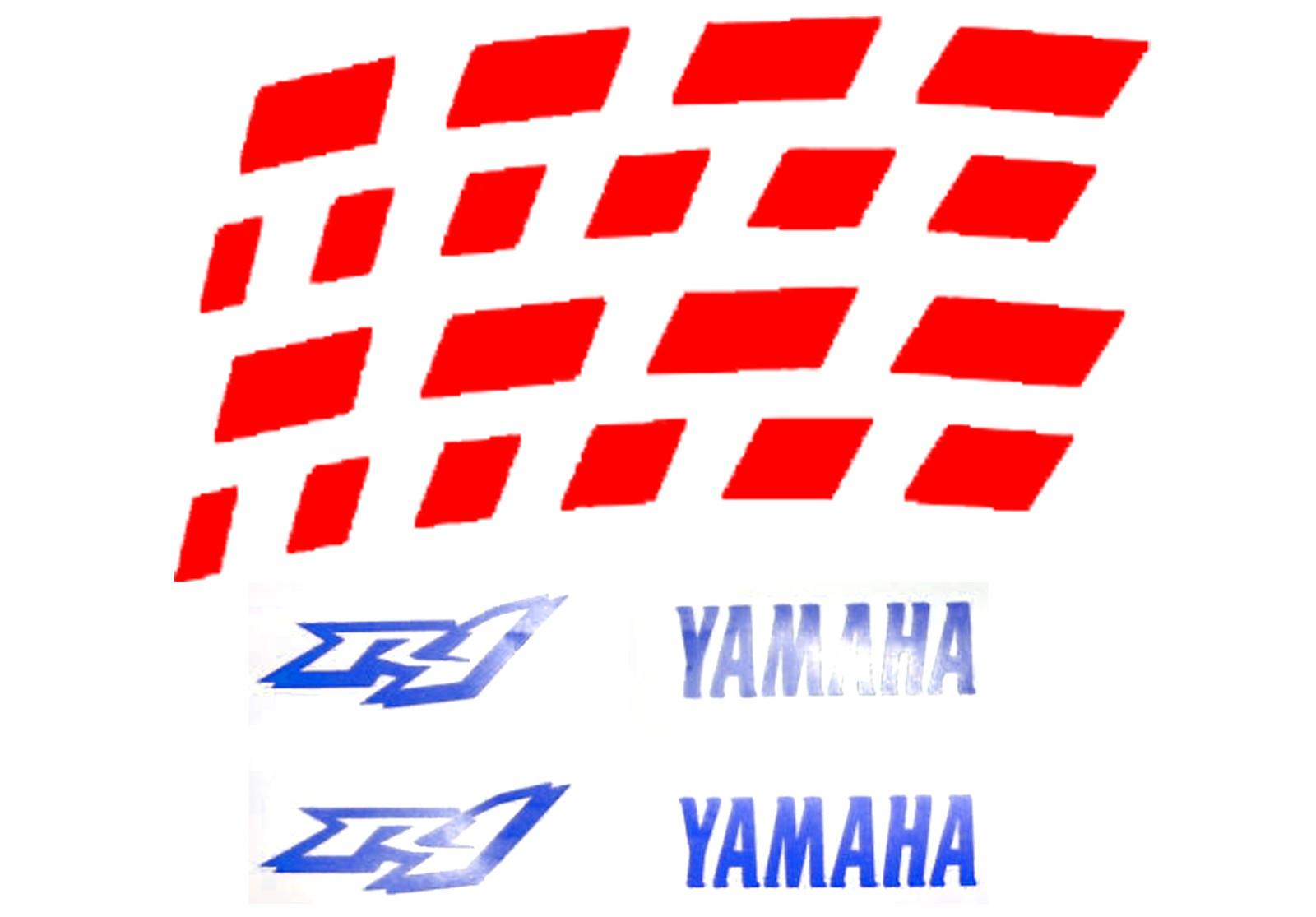 Zweifarbige Felgenbettaufkleber Yamaha YZF R1