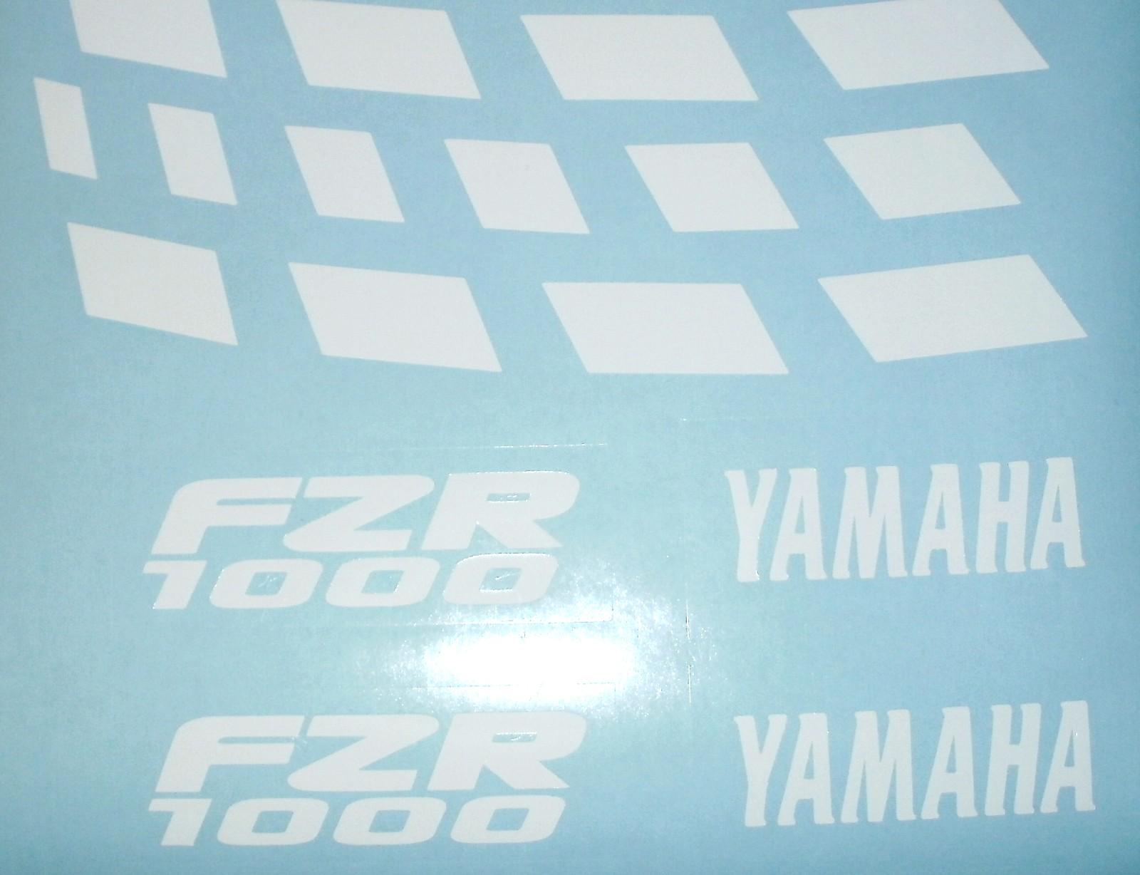 Felgenbettaufkleber Yamaha FZR 1000 weiß