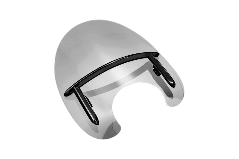 HIGHWAY HAWK Windschild De Luxe für Teleskopgabel 51-54 mm, glänzend schwarz