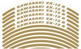 Felgenrandaufkleber Kawasaki ZX-12 R Gold glänzend