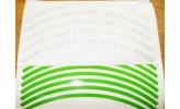 Felgenrandaufkleber HONDA CBR 600 RR neon grün
