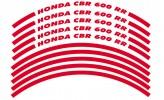 Felgenrandaufkleber HONDA CBR 600 RR rot