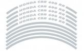 Felgenrandaufkleber HONDA CBR 600 RR silber