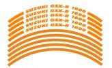 Felgenrandaufkleber Suzuki GSX-R 1000 Orange matt