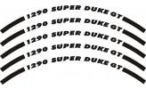 Felgenrandaufkleber KTM 1290 Super Duke GT schwarz