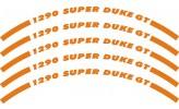 Felgenrandaufkleber KTM 1290 Super Duke GT orange