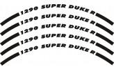 Felgenrandaufkleber KTM 1290 Super Duke R schwarz