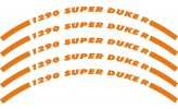 Felgenrandaufkleber KTM 1290 Super Duke R orange