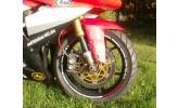 Felgenrandaufkleber KK-Design Honda CBR 1000 RR gelb / rot