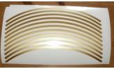 Felgenrandaufkleber 6 mm gold 17 Zoll