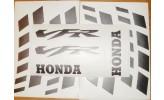Felgenbettaufkleber Honda VFR, schwarz