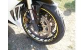 Felgenbettaufkleber Yamaha YZF R1 weiß