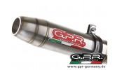 GPR Deep Tone Edelstahl KTM Duke 390 2013-14 Slip On Endschalldämpfer Auspuff mit Kat