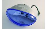HIGHSIDER H4 Einsatz oval, Klarglas blau eingefärbt, mit Standlicht