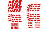 Felgenbettaufkleber Ducati 848 Streetfighter