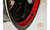 Felgenbettaufkleber Honda CBR 600 HRC rot