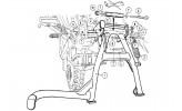 HEPCO & BECKER Hauptständer Breva V 750 ie / Nevada Classic V750ie / Aquila Ne