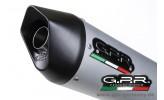 GPR Furore Alu Oval KTM Duke 390 2013-14 Slip On Endschalldämpfer Auspuff mit Kat